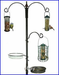 Wild Bird Feeding Station for Garden Water Bath Tray Table Hanging Feeder Steel