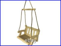 Wooden Garden Swing Seat Bird Feeder Hanging Swinging Tree Ornament Bird Table