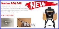 YNNI 25 ROSE GOLD XL Chip Feeder Kamado Bundle BBQ Grill Extras TrolleyTQTT25RG