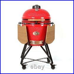 YNNI KAMADO 23.2 RED XL Chip Feeder Oven BBQ Grill Egg TQ0C23RE