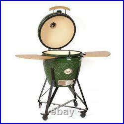 YNNI KAMADO 25.2 GREEN XXL Chip Feeder Oven BBQ Grill Egg TQ0C25GR